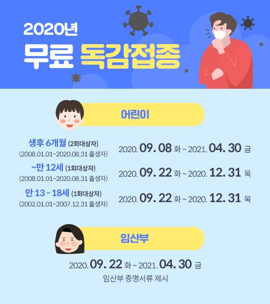 2020 독감무료접종